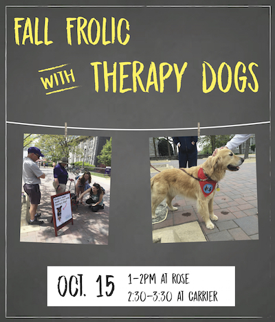 Fall Frolic with Therapy Dogs