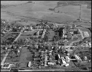 aerial view, ca. 1950s